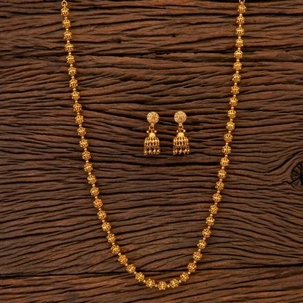 204811 Antique Mala Necklace with gold plating