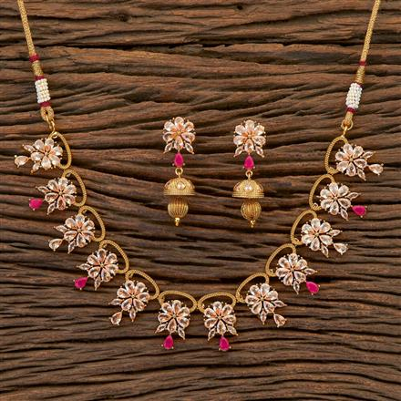 204812 Antique Classic Necklace with gold plating