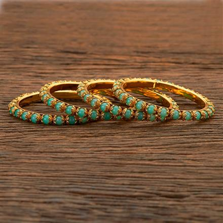 204814 Antique Classic Bangles with gold plating