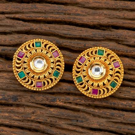 204832 Antique Tops with matte gold plating