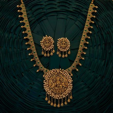 204868 Antique Temple Necklace with gold plating