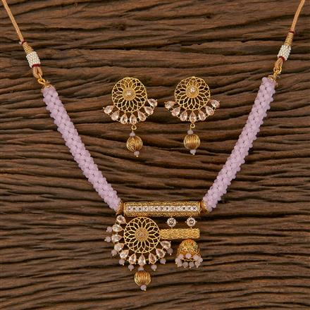 204885 Antique Mala Necklace With Gold Plating