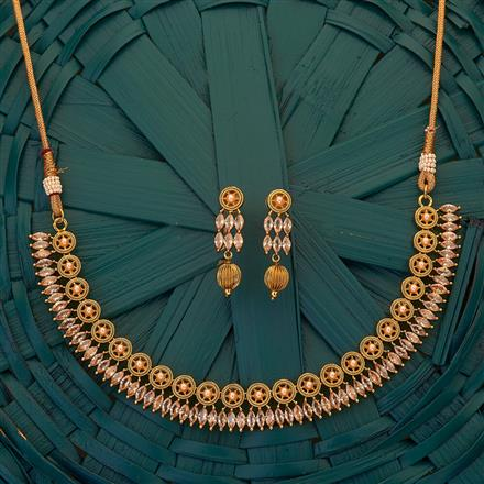 204900 Antique Classic Necklace with gold plating