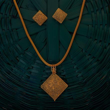 204921 Antique Plain Pendant set with gold plating