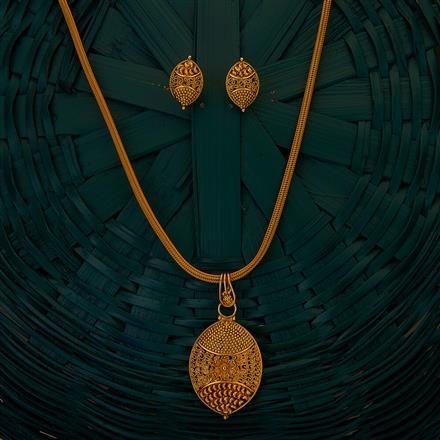 204925 Antique Plain Pendant set with gold plating