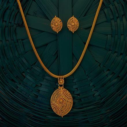 204926 Antique Plain Pendant set with gold plating