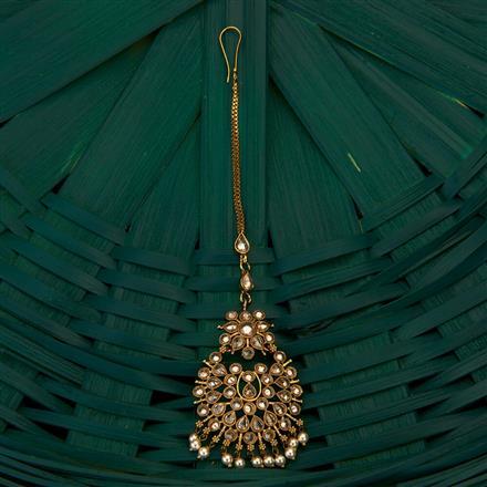 204930 Antique Chand Tikka with mehndi plating