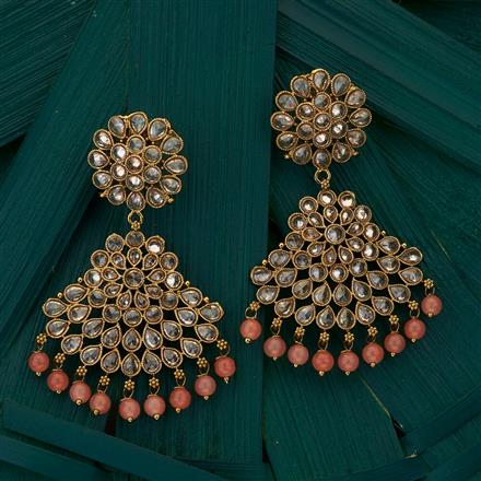204935 Antique Classic Earring with mehndi plating
