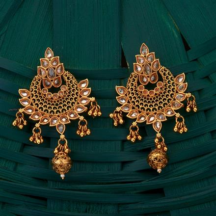 204953 Antique Chand Earring with gold plating