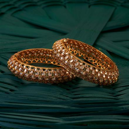 204954 2 Pc Antique Bangles with gold plating