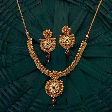 204970 Antique Classic Necklace with gold plating