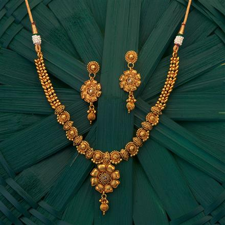 204980 Antique Delicate Necklace with gold plating