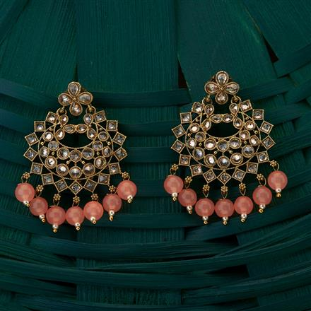 204988 Antique Chand Earring with mehndi plating