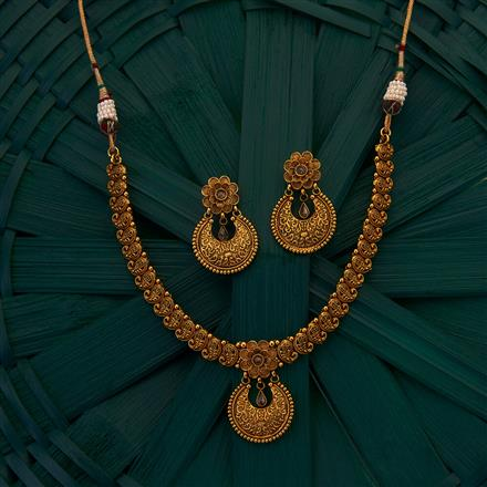 205003 Antique Delicate Necklace with gold plating
