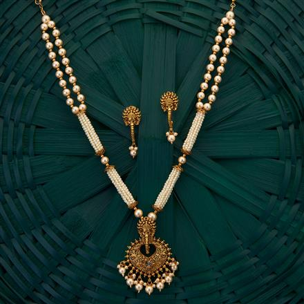205006 Antique Temple Pendant set with gold plating