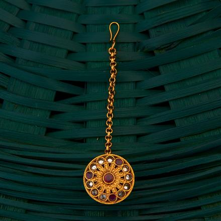 205009 Antique South Indian Bore with matte gold plating