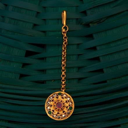 205012 Antique South Indian Bore with matte gold plating