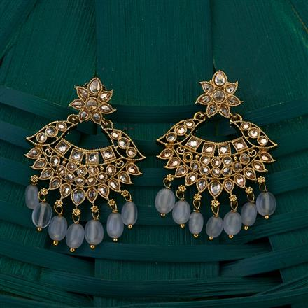 205040 Antique Chand Earring with mehndi plating