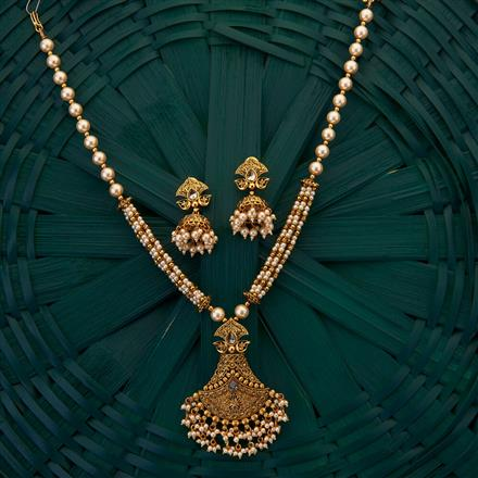 205060 Antique Mala Pendant set with gold plating