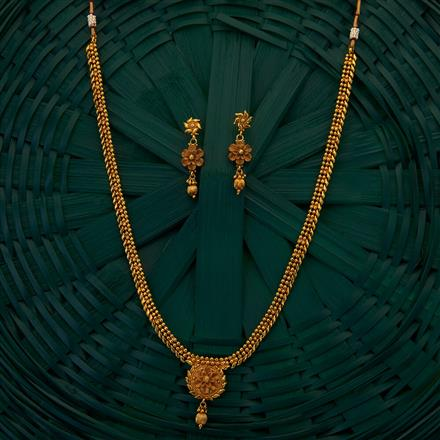 205066 Antique Long Necklace with gold plating