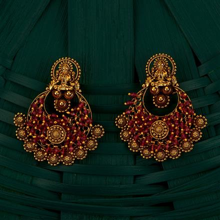 205076 Antique Chand Earring With Gold Plating
