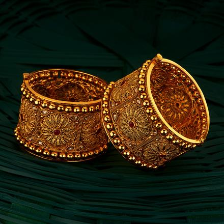 205078 Antique Openable Bangles With Gold Plating