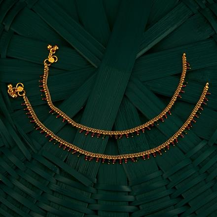 205102 Antique Delicate Payal With Gold Plating