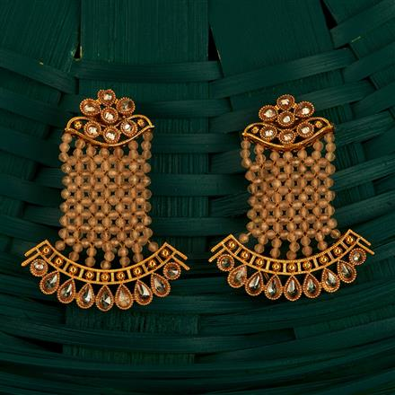 205103 Antique Classic Earring With Gold Plating
