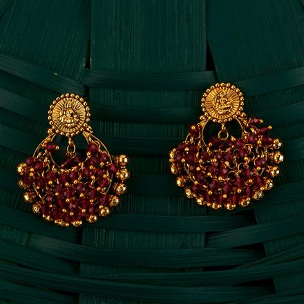 205111 Antique Chand Earring With Gold Plating