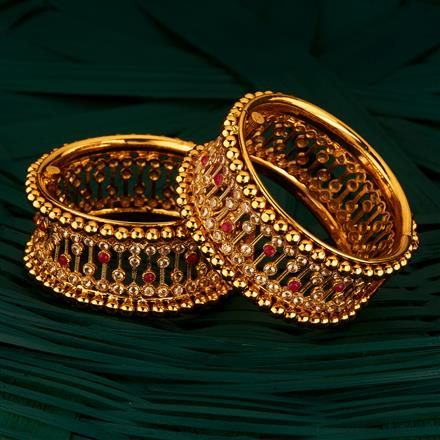 205117 Antique Openable Bangles With Gold Plating