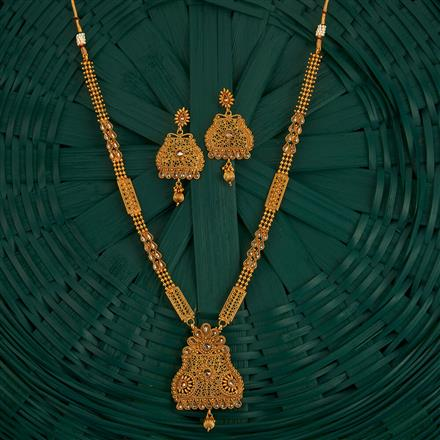 205121 Antique Long Necklace With Gold Plating
