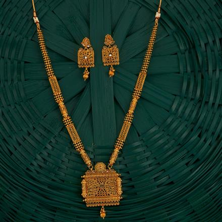 205122 Antique Long Necklace With Gold Plating
