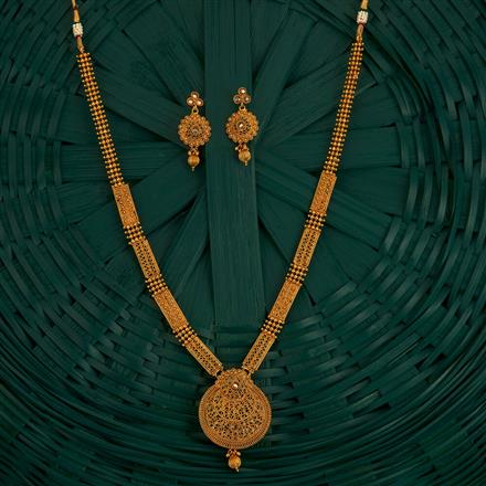 205123 Antique Long Necklace With Gold Plating