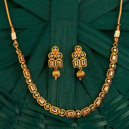 205126 Antique Delicate Necklace With Gold Plating