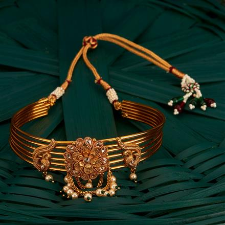 205135 Antique Classic Baju Band With Gold Plating
