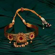 205136 Antique Classic Baju Band With Gold Plating