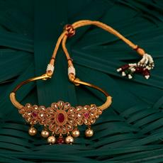 205139 Antique Classic Baju Band With Gold Plating