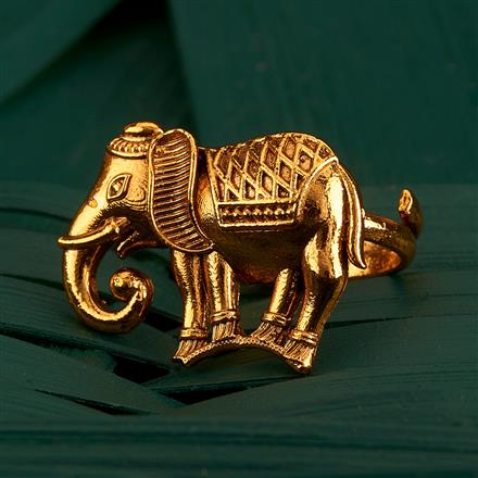 205162 Antique Temple Ring With Gold Plating