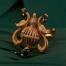 205163 Antique Peacock Ring With Gold Plating