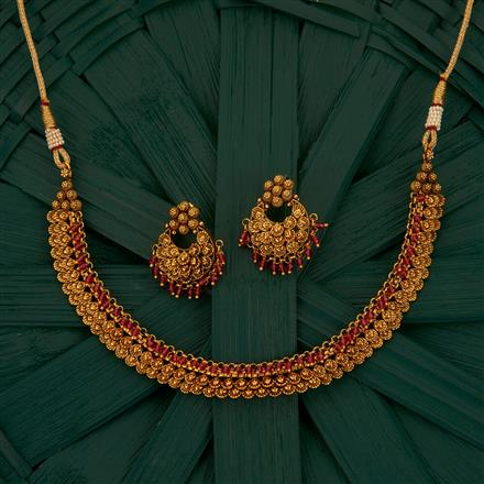 205173 Antique Delicate Necklace With Gold Plating