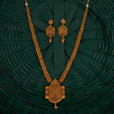 205206 Antique Long Necklace With Gold Plating
