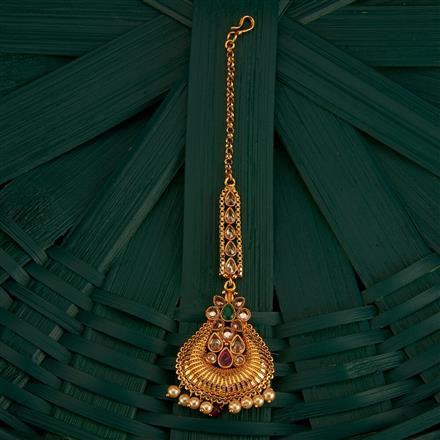 205222 Antique Classic Tikka With Gold Plating