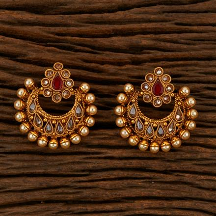 205227 Antique Chand Earring With Gold Plating