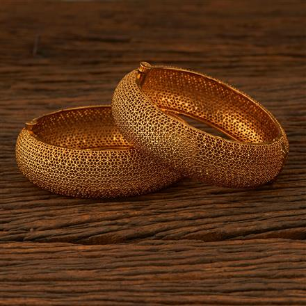 205244 Antique Openable Bangles With Gold Plating