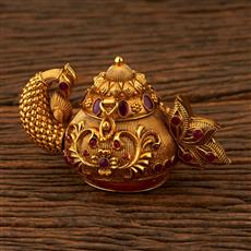 205267 Antique Classic Sindoor Box With Gold Plating