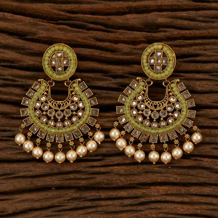 205273 Antique Classic Earring With Mehndi Plating