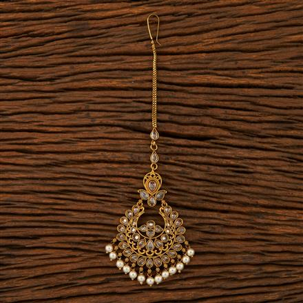 205274 Antique Chand Tikka With Mehndi Plating