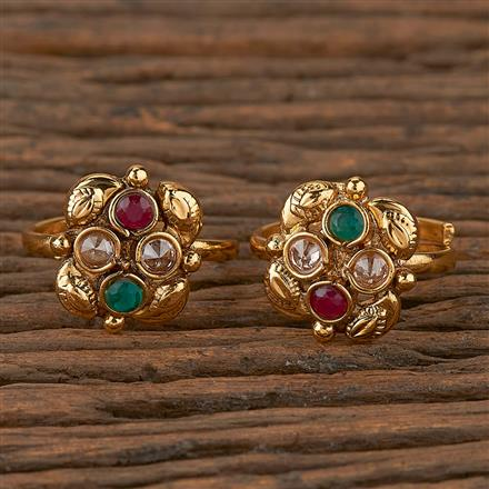205284 Antique Classic Toe Ring With Gold Plating