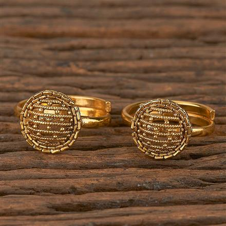 205287 Antique Classic Toe Ring With Gold Plating