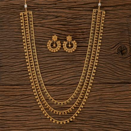 205298 Antique Plain Necklace With Gold Plating